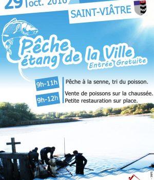 PÊCHE DE L'ÉTANG DE LA VILLE – 29 OCTOBRE 2016