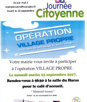 Journée citoyenne – Opération Village Propre