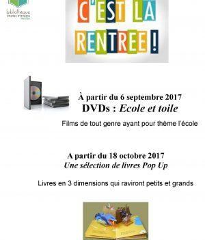 Animations Rentrée Scolaire // Bibliothèque