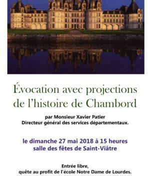 Évocation de l'histoire de Chambord – Projection