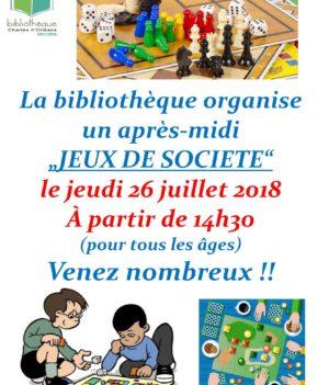 Après-Midi Jeux de Société // 26 juillet