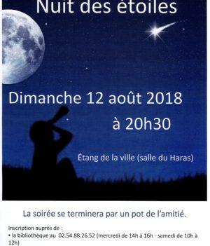 Nuit des étoiles -12 août 20h30