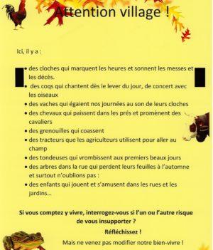 Attention village !