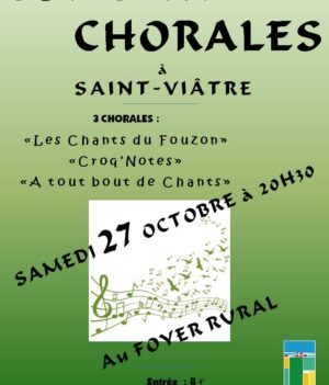 Concert Chorales – 27 oct. 2018