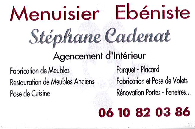 Stephane Cadenas Menuisier