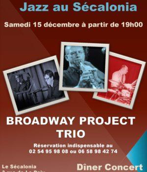 Jazz dîner-concert – 15 décembre // Sécalonia