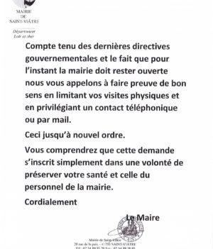 Infos MAIRIE
