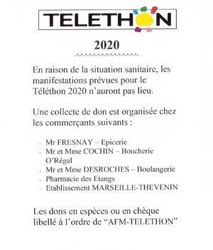 Téléthon 2020 !