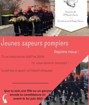 Jeunes Sapeurs Pompiers / recrutement