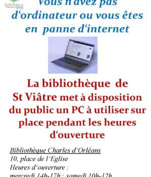 Bibliothèque : Point internet